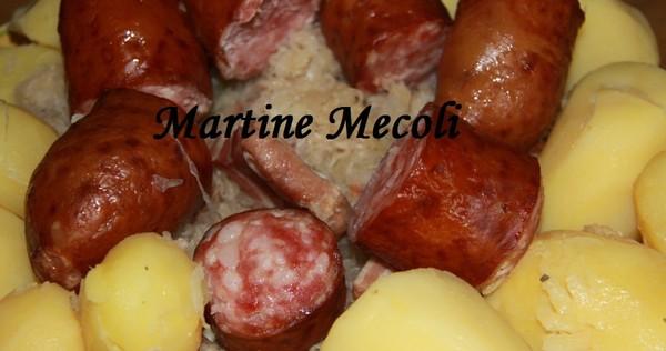 Recette de choucroute garnie partir de choucroute crue - Cuisiner choucroute crue ...