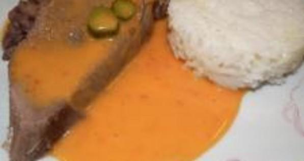 Recette de langue de boeuf la sauce piquante i cook 39 in - Cuisiner une langue de boeuf ...